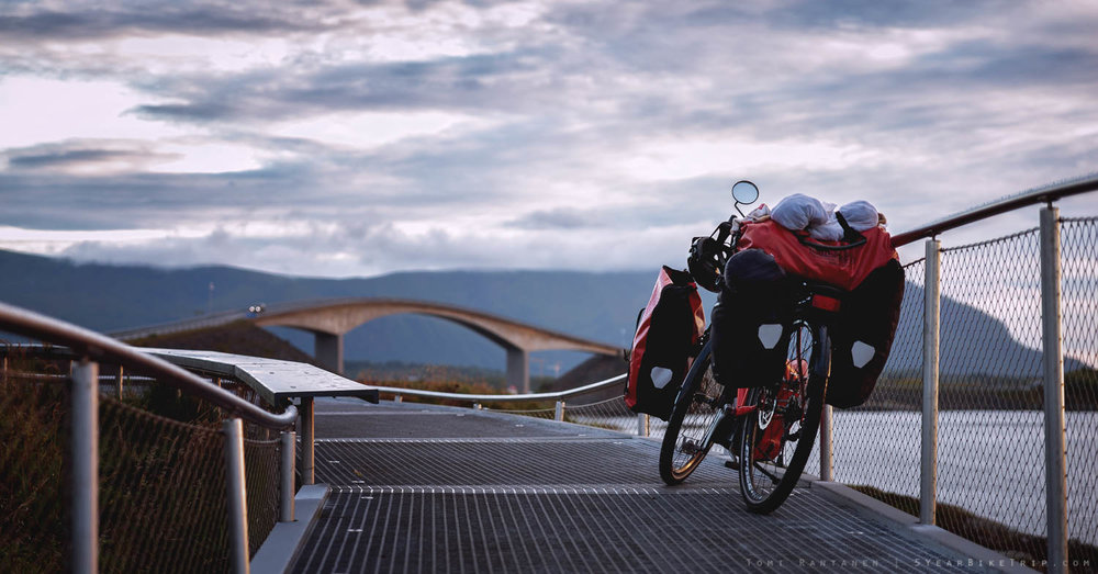 Bike at the Atlantic Road, Norway.