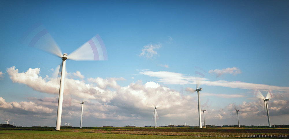 I love wind power in theory, but that constant wooshing sound can get a little annoying.