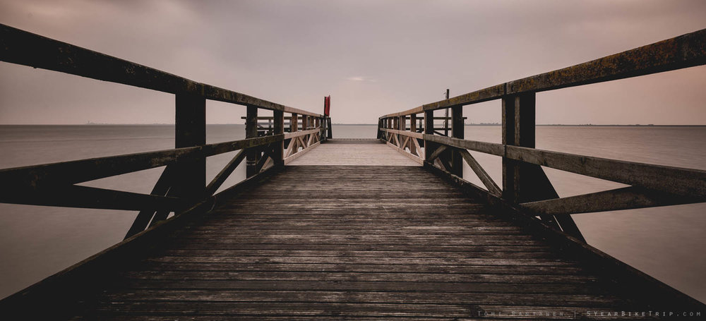 This pier stretched over 100 meters into the sea.