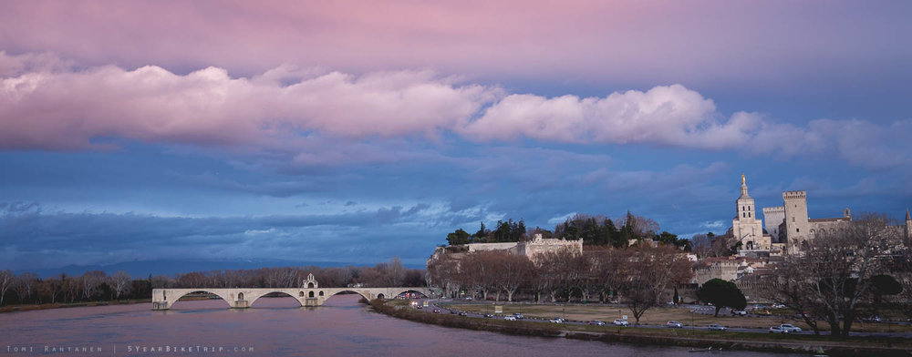 Avignon at sunset.