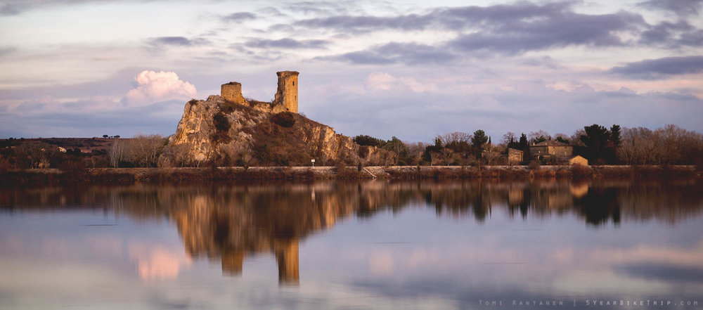One of France's numerous castles in one of France's numerous sunsets.