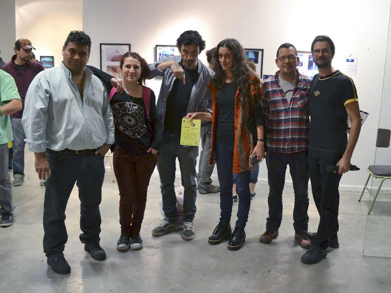 exhibition organizers and diverse foto-glitterati of Buenos Aires. foto: Mariano Fuaz