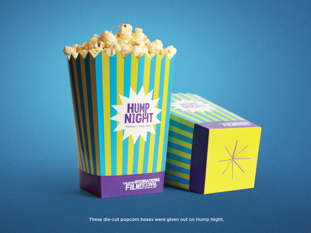 Calgary Internatial Film Festival Popcorn Box