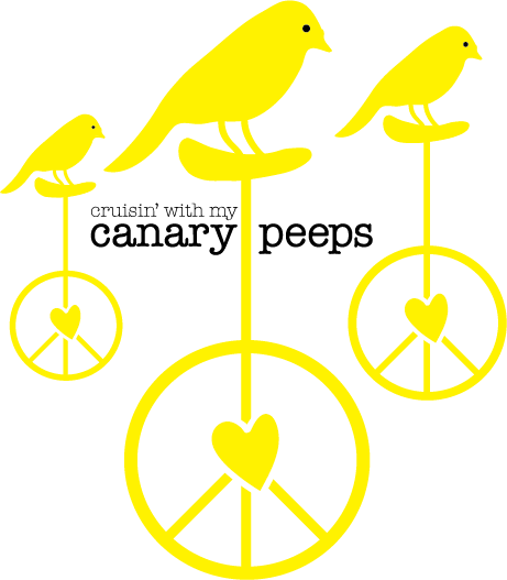 Cycling    Theme Graphics  in support of Canary Foundation's Canary Challenge (top fundraising team)