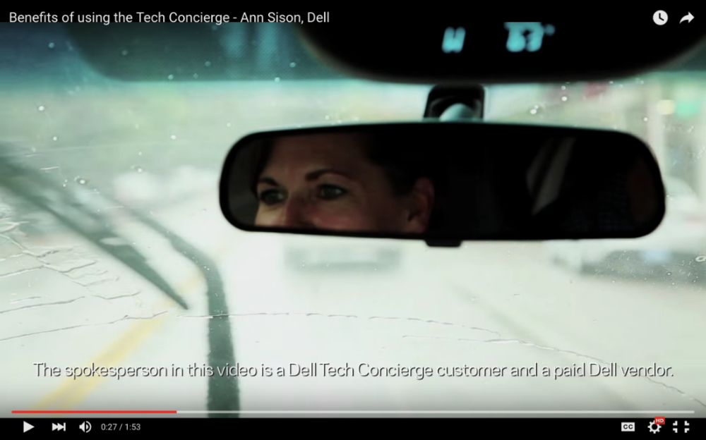 Dell —Dell Tech Concierge  video  spokesperson
