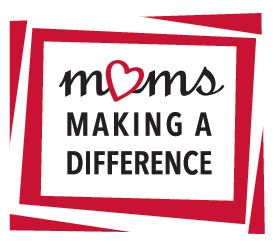 Logo  to represent the supportive moms making a difference in community, fundraising and service