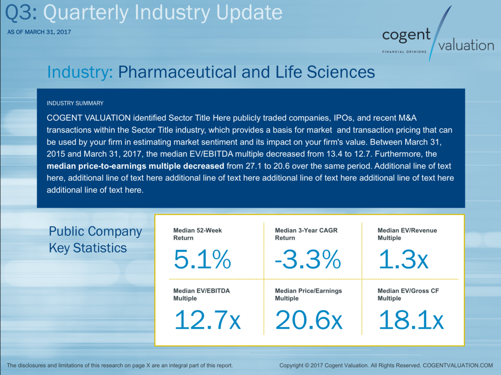 Quarterly Industry Update Presentation