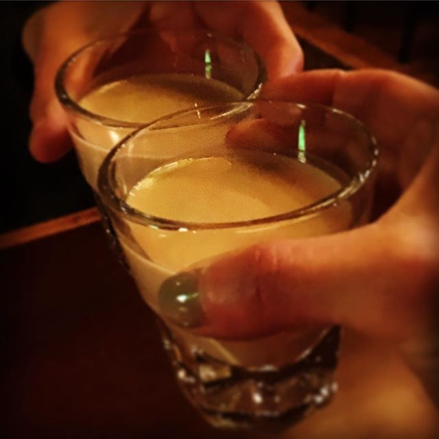 "cheers to the friendship! but seriously cheers to making your own Irish Cream. don't trust anything with the word ""cream"" that can be stored on a liquor store shelf at room temp. make your own like we do.  #irishcream #irishpub #whiskey #dtmpls #dankellyspub"