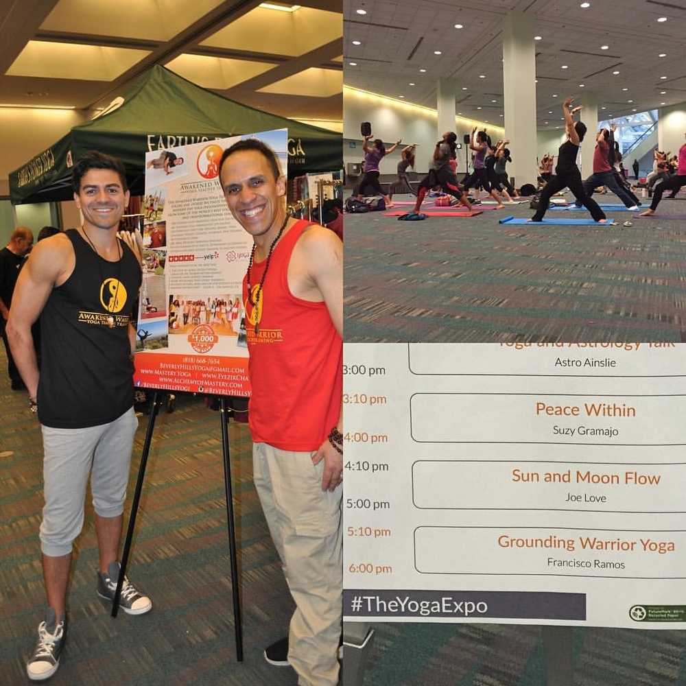 Francisco joined Awaken Warrior Yoga as a class facilitator at this year's L.A. Yoga Expo.  The event brought together thousands of people for yoga, meditations, workshops, healings, and much more.  This event was held at the Los Angeles Convention Center.   January 2016
