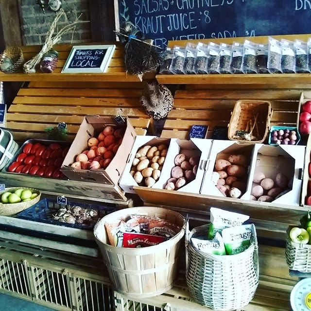 The #farmsteadmercantile is all stocked up on a variety of gorgeous local veggies and fruits, as well as Grab-N-Go salads and wraps! For our carnivore/omnivore friends we are also  offering a mouthwatering Pastrami Reuben made hot to order! Come to 330 Valley Street and share in the #locallove! #shoplocal #FermentFix #supportsmallbusiness #vagrown