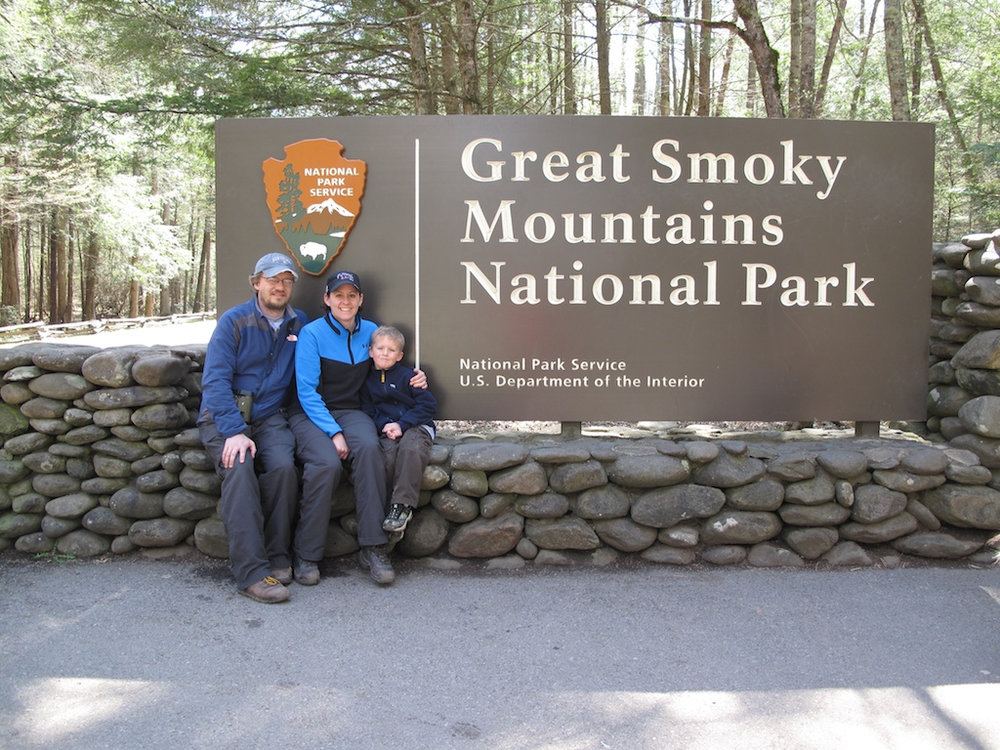 The family and I at the Great Smoky Mountains National Park in 2011