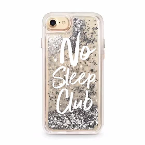 NO SLEEP CLUB GLITTER CASE