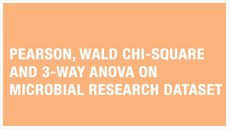 Pearson, Wald Chi-squared, 3 way ANOVA