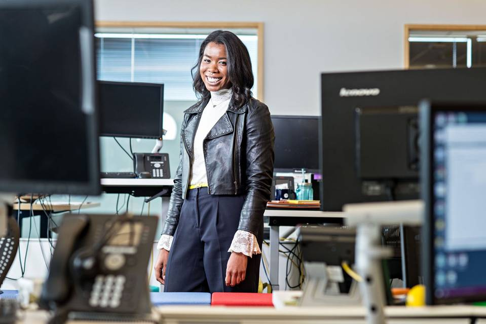 Shayla Owodunni, a 27-year-old finance manager at Expedia, wants to be CFO of a company someday. PHOTO: WIQAN ANG FOR THE WALL STREET JOURNAL