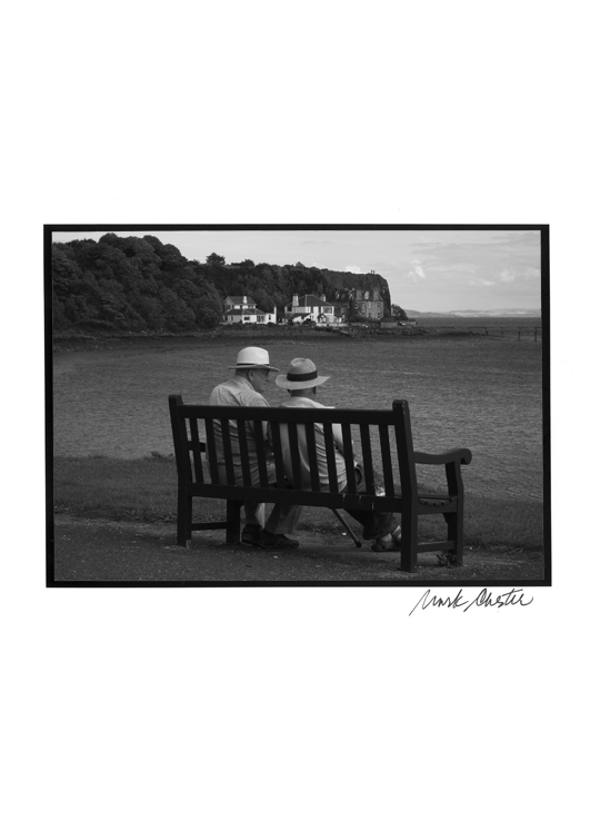 Two Men on Bench in Aberdour