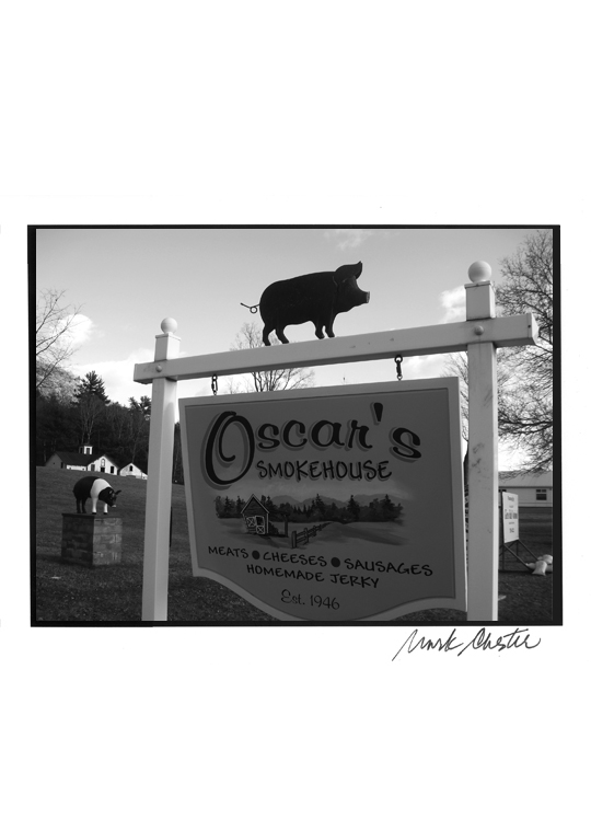 Oscar's Smokehouse Sign