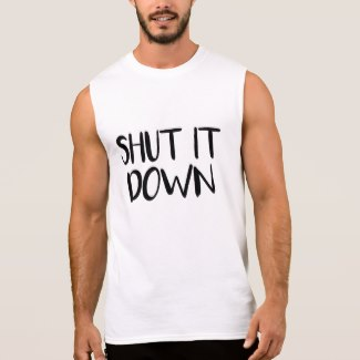 Shut It Down Men's Tank