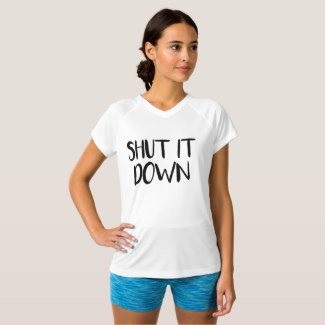 Shut It Down Women's Athletic Shirt