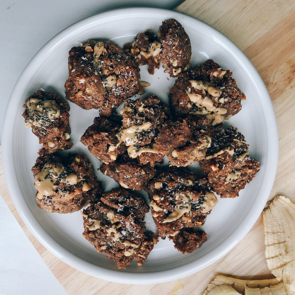 A naturally sweet and savory snack that only requires a few ingredients. Crunchy, bite sized and perfect for on the go or mid afternoon snack!