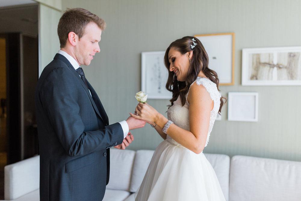 Toronto Fine Art Photographer - Four Seasons Yorkville Wedding - First Look-5.jpg
