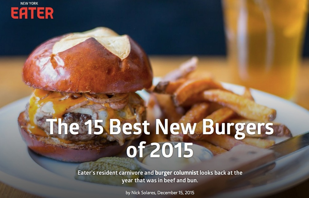 Virginia's Burger named one of the best burgers of 2015 by Eater NY