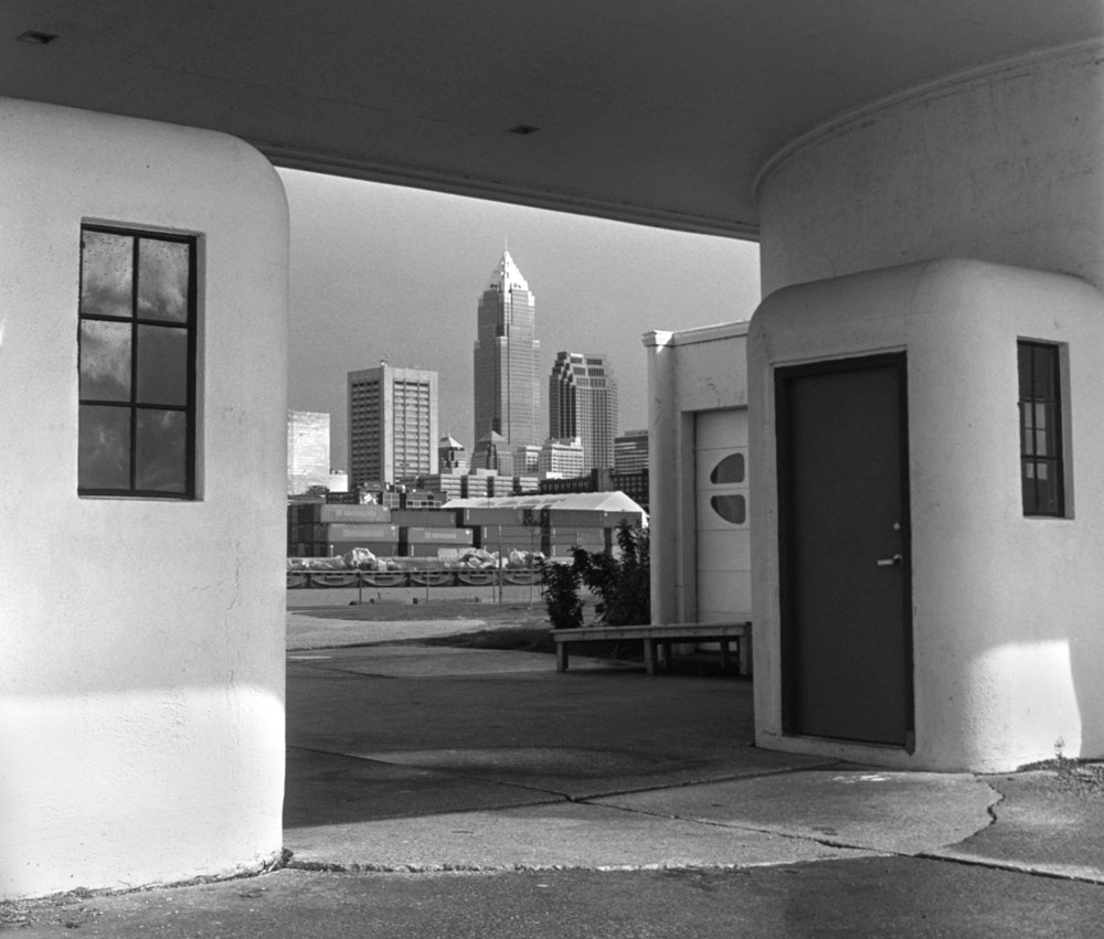 Cleveland Skyline from Whiskey Island #2 Cleveland, OH 6x6 BW film