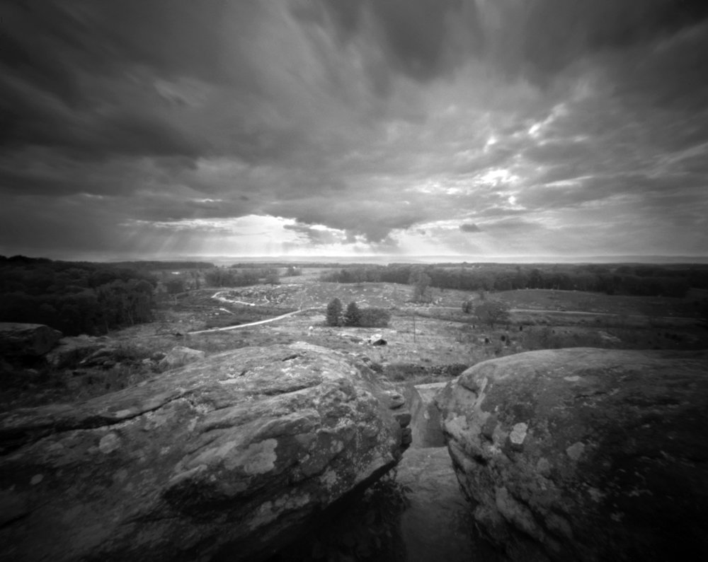 View from Little Round Top Gettysburg National Battlefield Pinhole camera