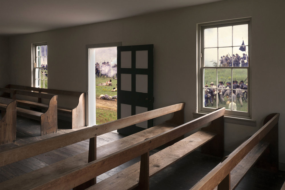 Dunker Church Antietam National Battlefield Then and Now