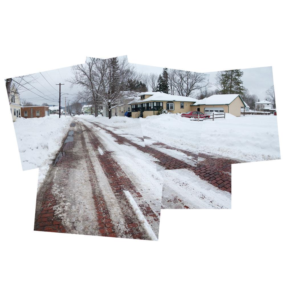 Winter street, Salamanca, NY