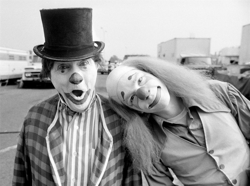 Father and Son clowns Jackson, MS 1976