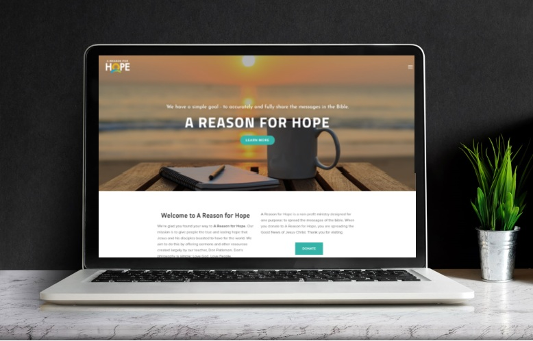 A Reason for Hope    Website Design