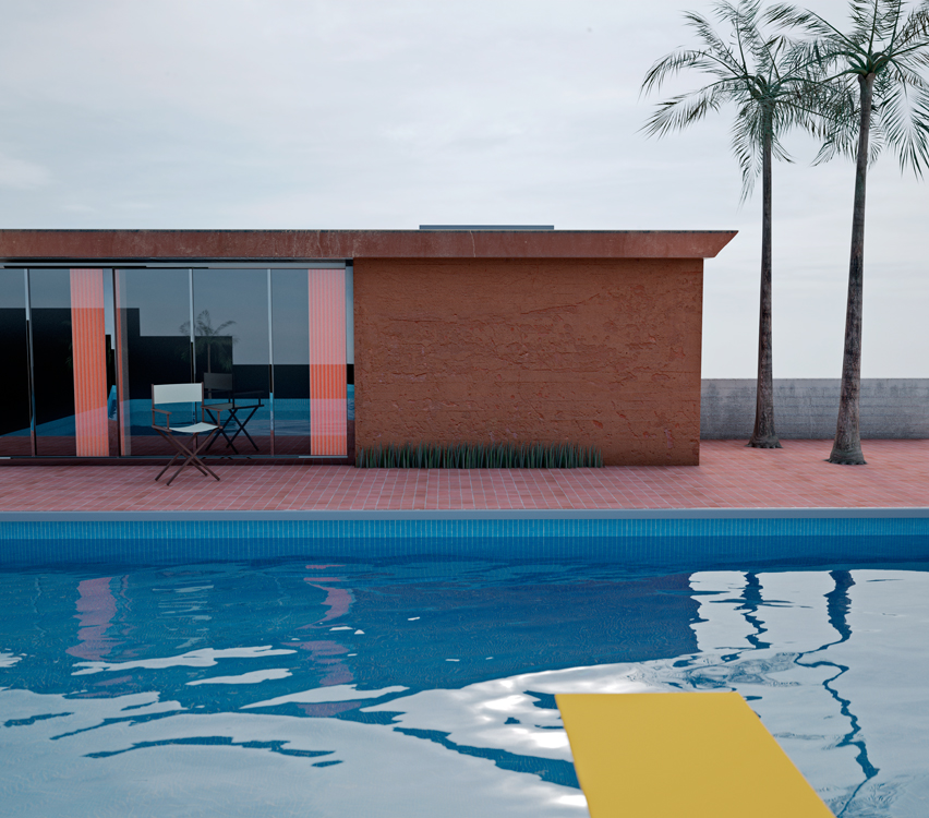Richard Kolker, David Hockney: A Bigger Splash, 1967 from the series Reference, Referents, 2011. Digital manipulation. Image via Richard Kolker.