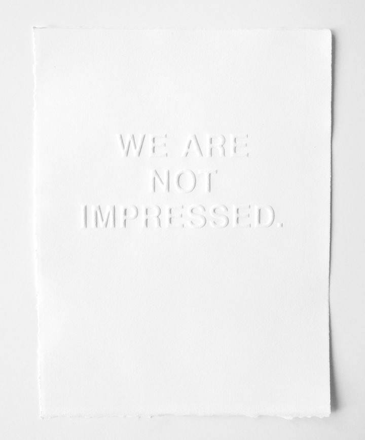 Unimpressed print. Image via Tappan Collective.