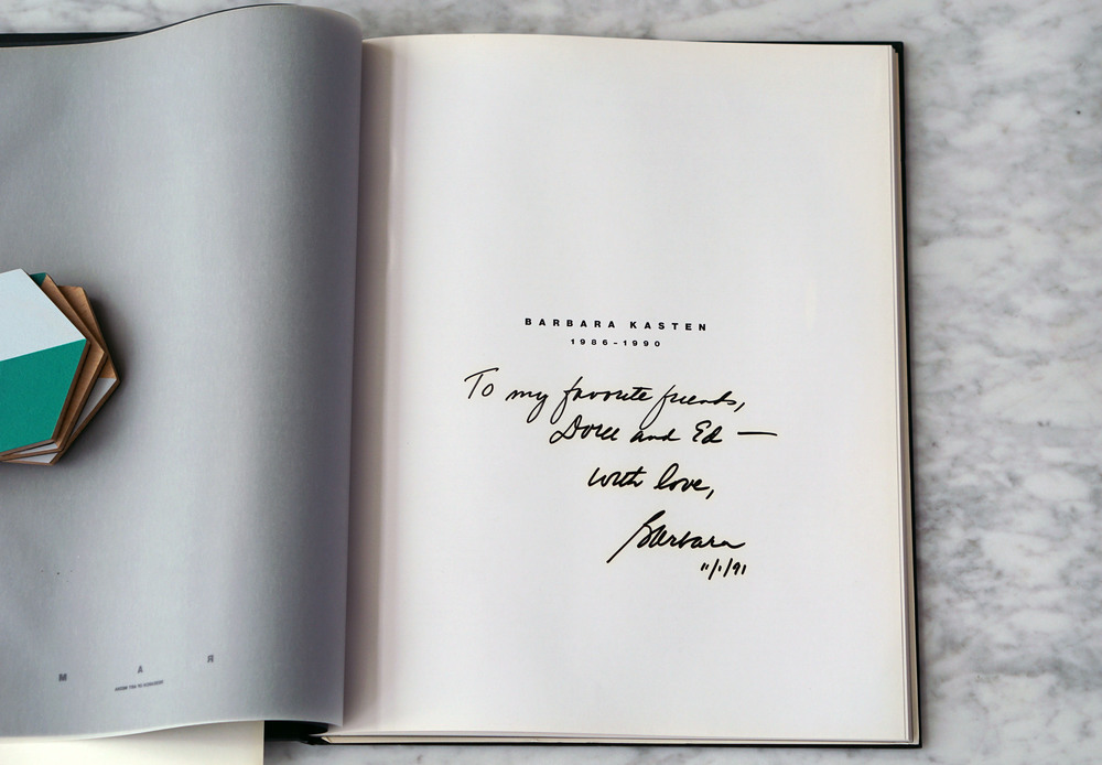 A thoughtful inscription from the artist.