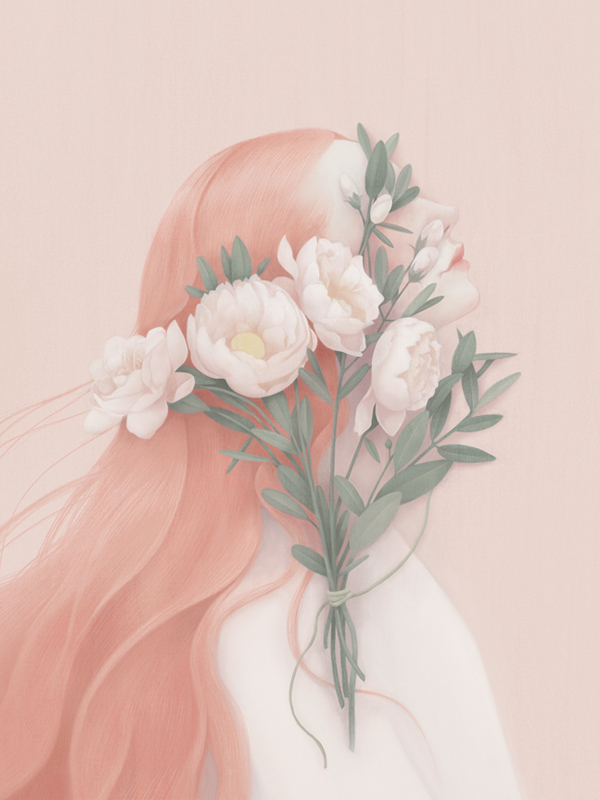 Orange (Flora Portrait), 2014. Digital.