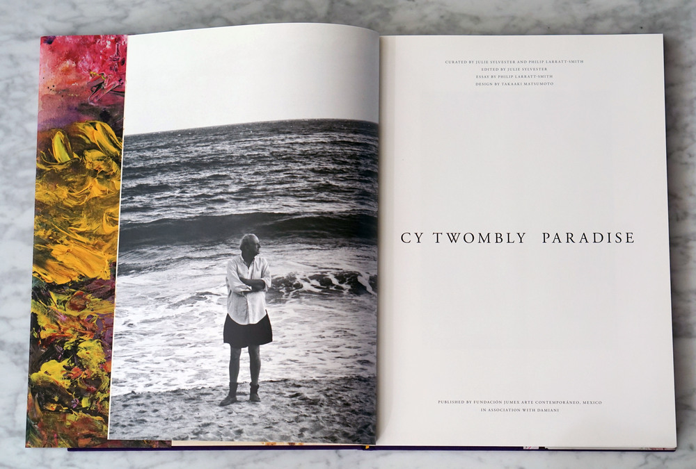 Cy Twombly on the beach at Gaeta, 1997 (left).
