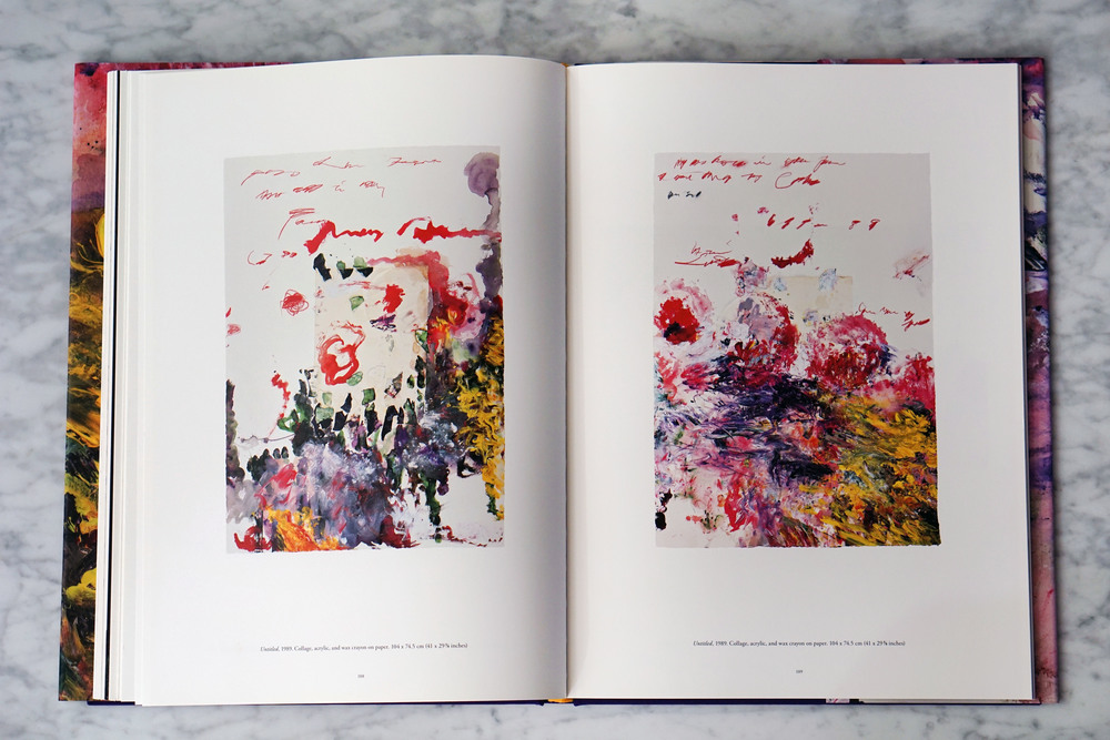 Untitled, 1989 (left) and Untitled, 1989 (right). Both: collage, acrylic, and wax crayon on paper.