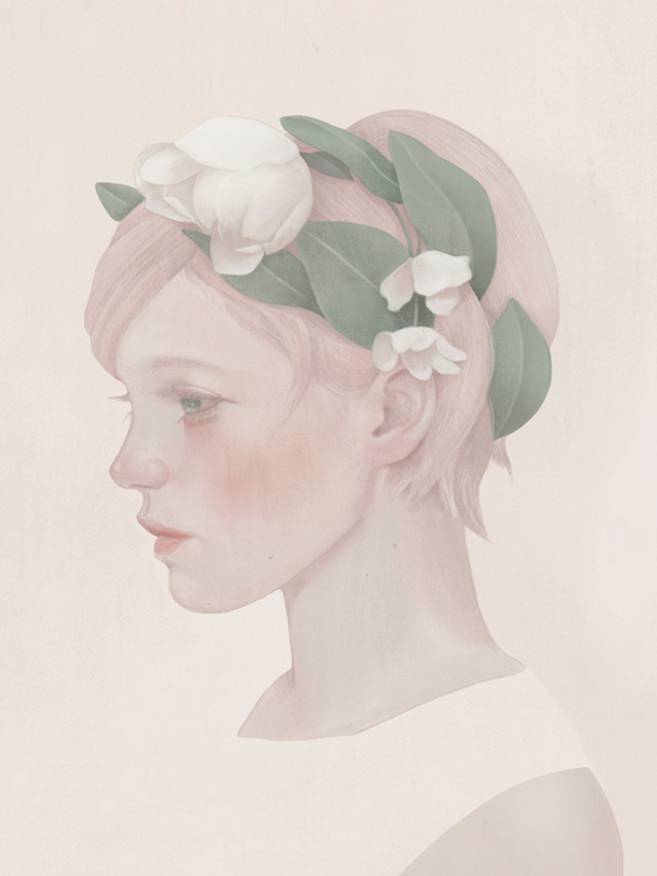 Pink (Flora portrait), 2014. Digital.