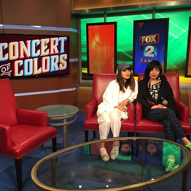 Detroit!!! Don't miss our show at 3pm at Concert Hall 🔥 for Concert of colors. It's Free admission. lol Thank you for having us FOX 2 NEWS. 🔥 #fox2 #detroit #concertofcolors2016