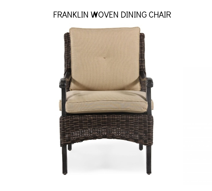 Agio Franklin Woven Dining Chair Front View.jpg