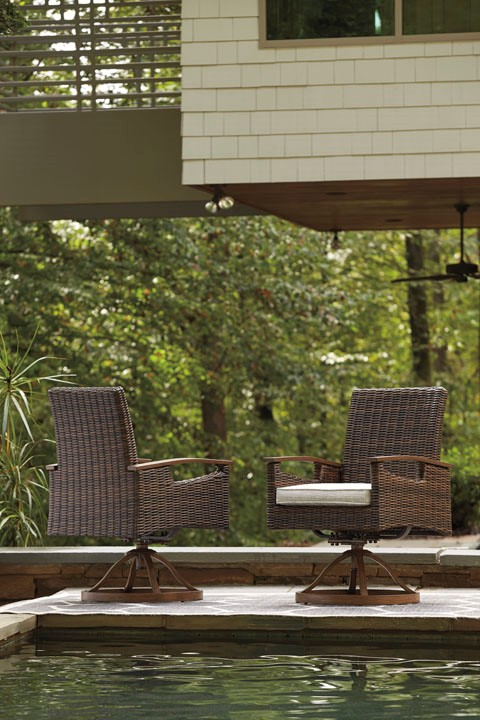 PARADISE TRAIL SWIVEL DINING CHAIRS