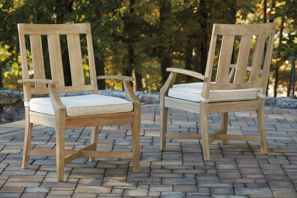 Clare View Arm Chairs with Pads