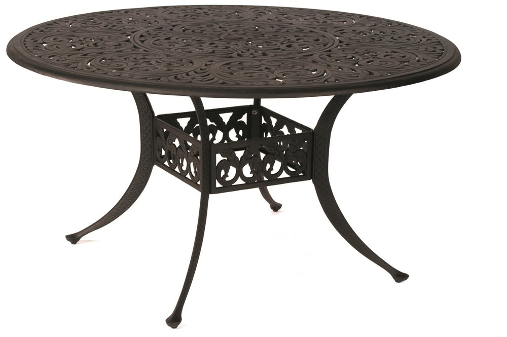 """St. Augustine Cast Dining Table 54"""" Round"""