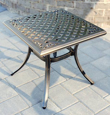 """Heritage Cast Side Table 20"""" Square"""