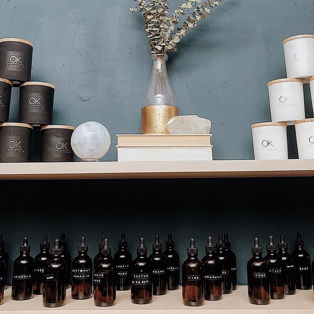 Candle lab pop up shop is now open! Located inside @passporthabits downtown Ventura, ca. Follow @shopdusk for more info! Come blend your own scents 💛