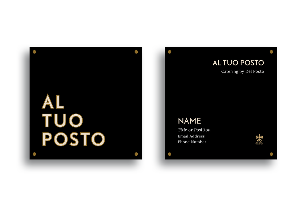 The square logo was selected, and I began applying it to printed collateral, such as the business card template on the left. -