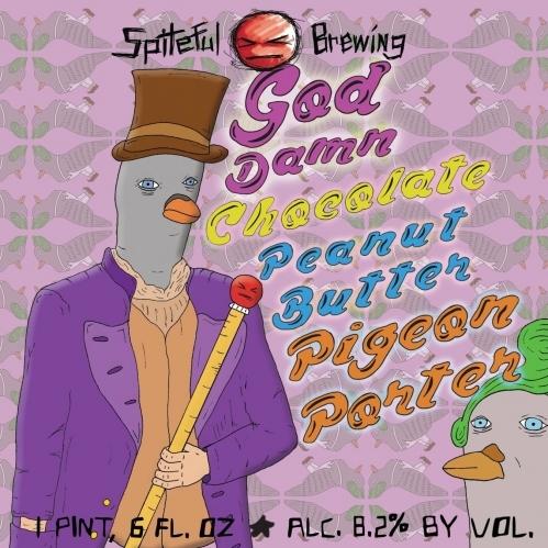 Spiteful BrewingGod Damn Peanut ButterPigeon Porter -