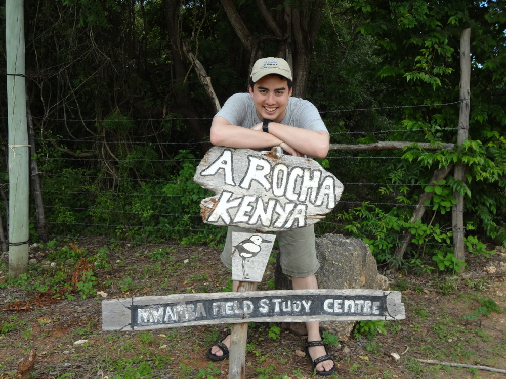 Ben on a visit to A Rocha Kenya's Mwamba field studies center in 2014