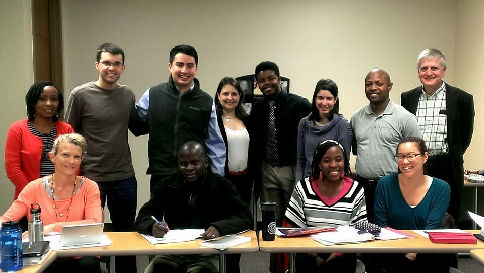 Visiting Dr. Susan Greener's grad class at Wheaton College (IL)