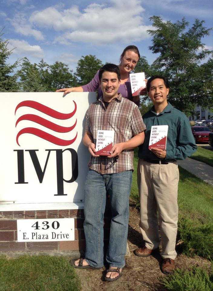 Ben with editor Al Hsu and publicist Adrianna Wright outside IVP's headquarters.